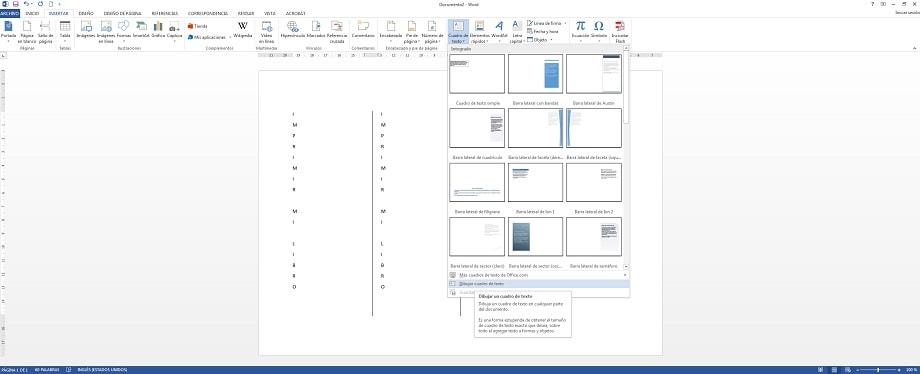 Proceso de cómo hacer un marcador de libro en Microsoft Word