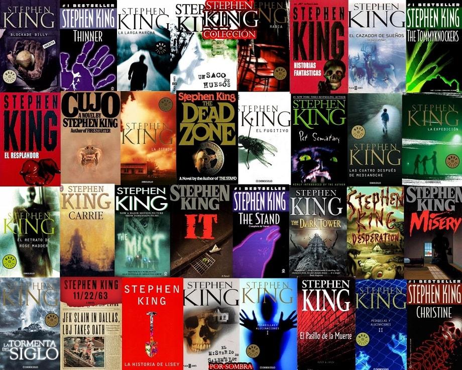 Algunos de los libros de Stephen King