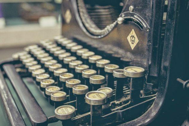 Máquina de escribir utilizada para certámenes literarios