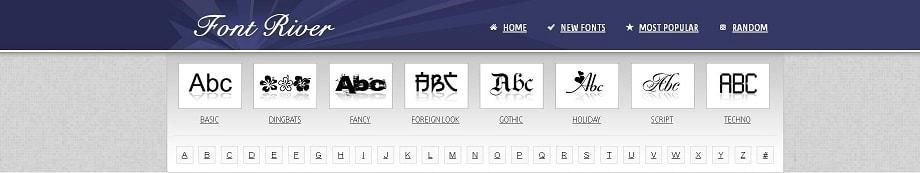 Font River, uno de los sitios donde descargar fuentes gratis para tu libro