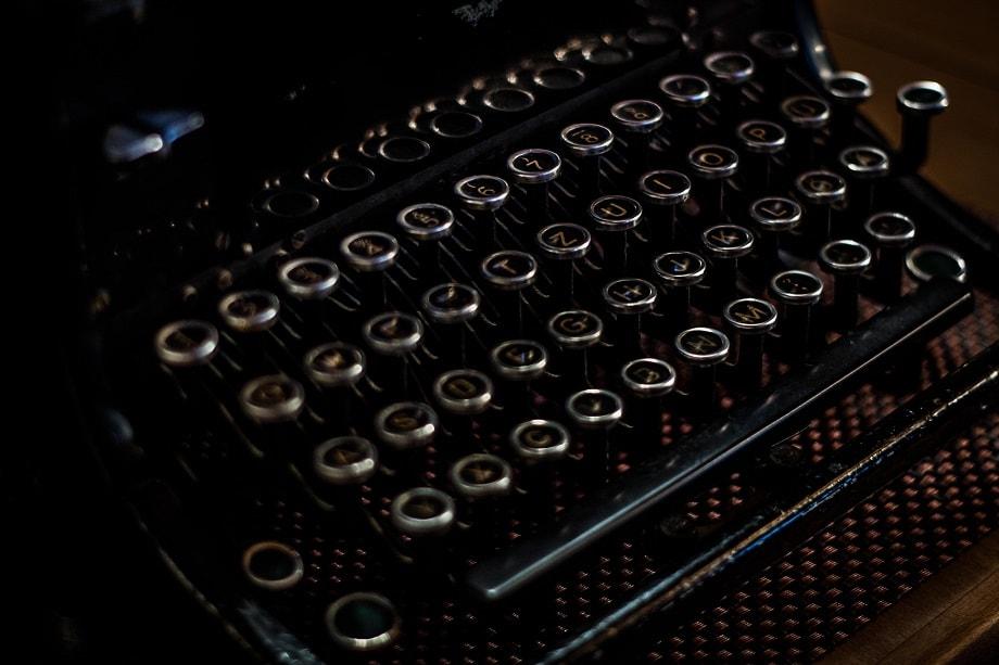 Máquina de escribir para participar en los concursos literarios de marzo