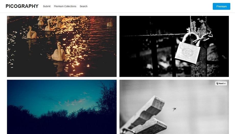 Web de Picography, uno de los mejores bancos de imágenes