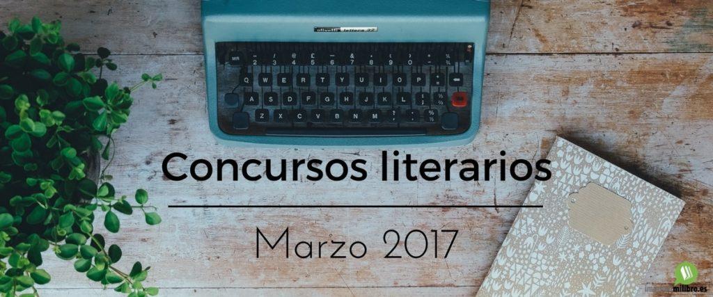 Portada del post concursos literarios de marzo 2017