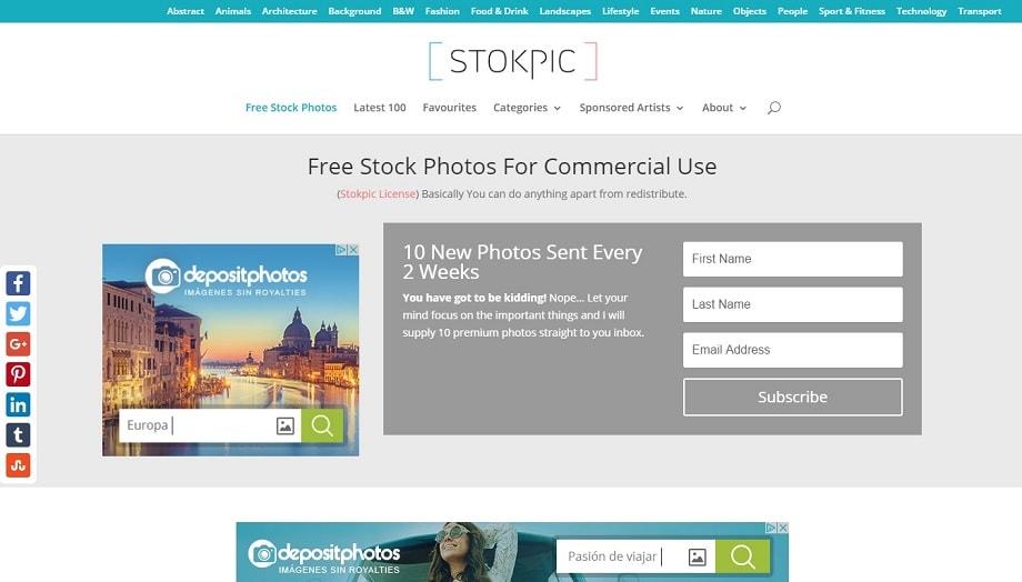 Uno de los mejores bancos de imágenes Stokpic