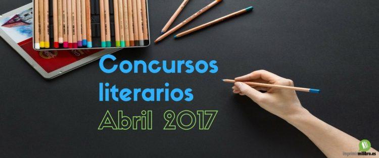 Portada del post concursos literarios de abril 2017